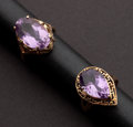 Estate Jewelry:Rings, Estate Amethyst Gold Rings. ... (Total: 2 Items)