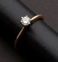 Estate Jewelry:Rings, Solitaire Diamond Ring. ...