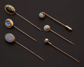Estate Jewelry:Stick Pins and Hat Pins, Six Antique Stick Pins. ... (Total: 6 Items)
