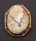 Estate Jewelry:Cameos, Gold Framed Habille Cameo. ...