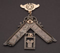 Estate Jewelry:Other , Gold & Silver Early Masonic Presentation Piece. ...
