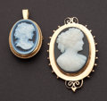 Estate Jewelry:Cameos, Two Antique Gold Cameos. ... (Total: 2 Items)