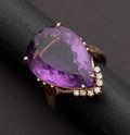 Estate Jewelry:Rings, Estate Amethyst & Gold Ring. ...