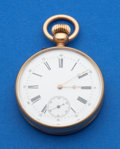 Timepieces:Pocket (post 1900), Swiss Unmarked Gold 44 mm Pocket Watch. ...