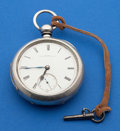 Timepieces:Pocket (pre 1900) , Illinois Early Mason Key Wind, Coin Silver Case. ...