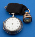 Timepieces:Pocket (pre 1900) , James Delassalle London Verge Fusee With Fob. ...