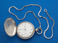 Timepieces:Pocket (pre 1900) , Waltham Early Model 57 Coin Silver Key Wind. ...