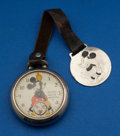 Timepieces:Pocket (post 1900), Ingersoll Early Mickey Mouse Watch & Fob. ...
