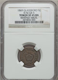 Medals And Tokens, 1869 Token Glassboro, New Jersey Whitney Bros. Token XF45 Brown NGC. R-NJ-GB-5....