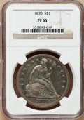 Proof Seated Dollars, 1870 $1 PR55 NGC....