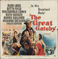 "Movie Posters:Drama, The Great Gatsby (Paramount, 1949). Six Sheet (81"" X 81""). Drama.. ..."