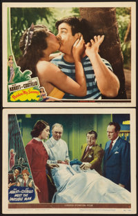 """Abbott and Costello Meet the Invisible Man and Other Lot (Universal International, 1951). Lobby Cards (2) (11"""" X 14..."""