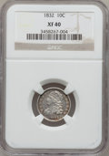 Bust Dimes: , 1832 10C XF40 NGC. NGC Census: (5/236). PCGS Population (18/247).Mintage: 522,500. Numismedia Wsl. Price for problem free ...
