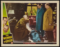 """The Woman in Green (Universal, 1945). Lobby Card (11"""" X 14""""). Mystery"""