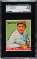 Baseball Cards:Singles (1930-1939), 1933 Goudey Babe Ruth #181 SGC 80 EX/NM 6....