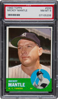 Baseball Cards:Singles (1960-1969), 1963 Topps Mickey Mantle #200 PSA NM-MT 8....