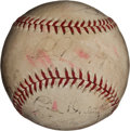 Autographs:Baseballs, 1935 New York Yankees Team Signed Baseball....