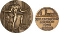 Miscellaneous Collectibles:General, 1936 Berlin & 1948 London Olympic Games Participation MedalsLot of 2....