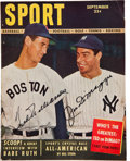 Autographs:Others, 1948 Sport Magazine Signed by Ted Williams & Joe DiMaggio....