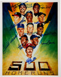 Autographs:Others, 1980's 500 Home Run Club Signed Small Print....