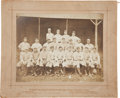 Baseball Collectibles:Photos, 1915 Pittsburgh Rebels (Federal League) Cabinet Photograph....
