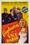 Memorabilia:Poster, Confessions of a Vice Baron Movie Poster (WillisKent/American Trading Association, 1943)....