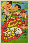 Memorabilia:Poster, Murder Without Tears Movie Poster (William F. Broidy/AlliedArtists, 1953)....