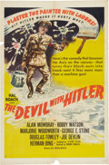 Memorabilia:Poster, The Devil With Hitler Movie Poster (Hal Roach/UnitedArtists, 1942)....