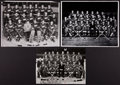 Hockey Collectibles:Photos, 1955-66 Detroit Red Wings Original Oversized Team Photographs Lotof 3....