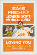 Memorabilia:Poster, Loving You Linen Backed Movie Poster (Paramount, 1957)....