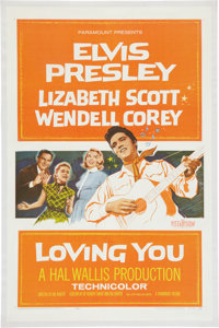 Loving You Linen Backed Movie Poster (Paramount, 1957)
