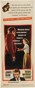 Memorabilia:Poster, Rebel Without a Cause Movie Poster Insert (Warner Brothers,1955)....