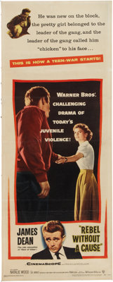 Rebel Without a Cause Movie Poster Insert (Warner Brothers, 1955)