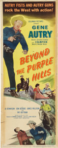 Memorabilia:Poster, Beyond the Purple Hills Movie Poster (Columbia Pictures,1950)....