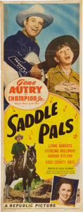 Memorabilia:Poster, Saddle Pals Movie Poster (Republic Pictures, 1947)....