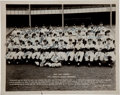 Autographs:Photos, 1955 New York Yankees Team Signed Photograph....