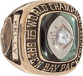 """Football Collectibles:Others, 1965 NFL Championship Green Bay Packers """"Jostens"""" Ring...."""