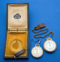 Timepieces:Pocket (post 1900), Two Pocket Watches 17 Jewels Hamilton & Elgin 16 Sizes Runners . ... (Total: 2 Items)