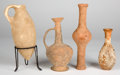Antiquities:Holy Land, Antiquities: HOLY LAND. Phoenicia-Judaea, late Bronze Age toHellenistic, ca. 1400-300 BCE. Group of four clay vessels. ...(Total: 4 items)