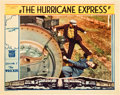 """Movie Posters:Serial, The Hurricane Express (Mascot, 1932). Lobby Card (11"""" X 14"""")Chapter 1 -- """"The Wrecker."""". ..."""