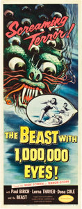 "Movie Posters:Science Fiction, The Beast with 1,000,000 Eyes! (American Releasing Corp., 1955).Insert (14"" X 36"").. ..."