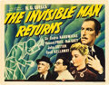 "Movie Posters:Horror, The Invisible Man Returns (Universal, 1940). Title Lobby Card (11""X 14"").. ..."