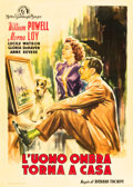 "Movie Posters:Mystery, The Thin Man Goes Home (MGM, 1945). Italian 2 - Foglio (39"" X55"").. ..."