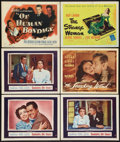 """Movie Posters:Romance, Goodbye, My Fancy and Others Lot (Warner Brothers, 1951). Title Lobby Cards (2) and Lobby Cards (4) (11"""" X 14""""). Romance.. ... (Total: 6 Items)"""