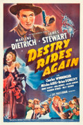 """Movie Posters:Western, Destry Rides Again (Universal, 1939). One Sheet (27"""" X 41"""").. ..."""