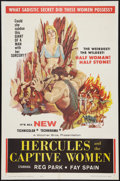 "Movie Posters:Action, Hercules and the Captive Women (Woolner Brothers, 1963). One Sheet(27"" X 41""). Action.. ..."