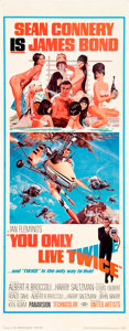 "Movie Posters:James Bond, You Only Live Twice (United Artists, 1967). Insert (14"" X 36"").. ..."