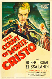 """The Count of Monte Cristo (United Artists, 1934). One Sheet (27"""" X 41"""")"""