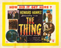 "Movie Posters:Science Fiction, The Thing from Another World (RKO, 1951). British Half Sheet (22"" X28"").. ..."