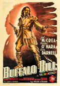 "Movie Posters:Western, Buffalo Bill (20th Century Fox, 1949). First Post-War Italian 4 -Foglio (55"" X 78"").. ..."
